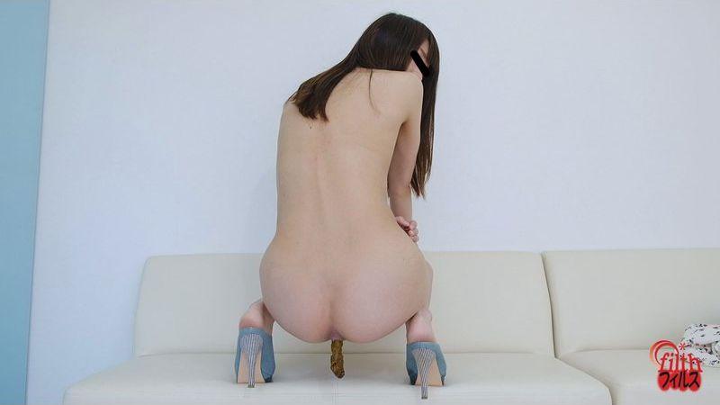 裸でうんこを撮りました。4